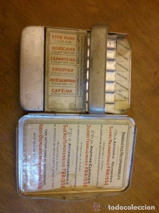 Antigüedades: CAJA MUY ANTIGUA DE URGENCIA MEDICA MUY RARA BONITA ORIGINAL - Foto 3 - 121622879