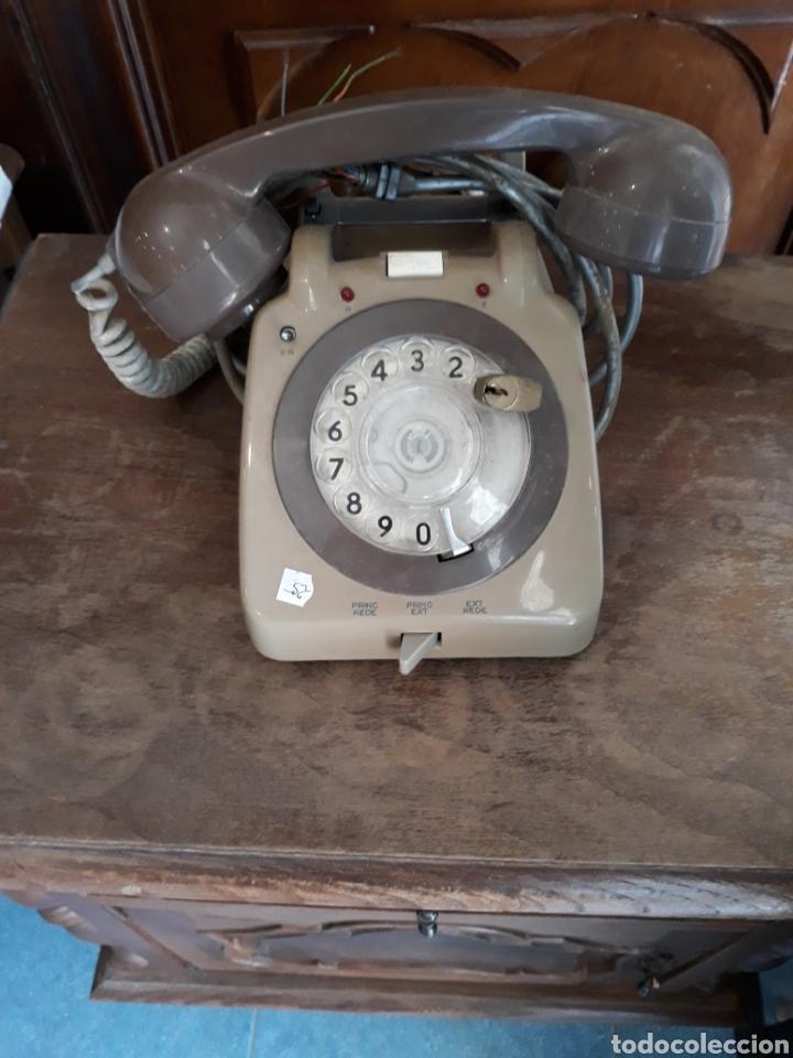 TELÉFONO MARRON (Antigüedades - Técnicas - Teléfonos Antiguos)