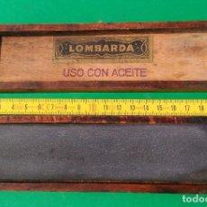 Antigüedades: PIEDRA AFILAR LOMBARDA, NATURAL FINA FINALISTA PARA NAVAJAS AFEITAR, HERRAMIENTAS MEDICOS PRECISION. Lote 121721911