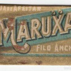 Antigüedades: MARUXA HOJA DE AFEITAR FILO ANCHO POR M. S. DE ZALDIVAR MALAGA. Lote 121725931