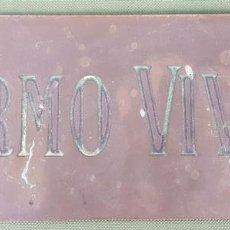 Antigüedades: PLACA DE BRONCE. FIRMO VIVES. CIRCA 1960. . Lote 121745171