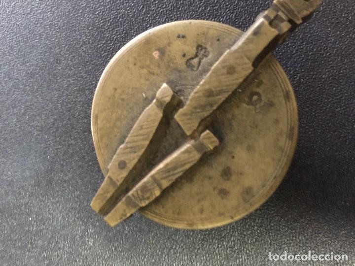 PONDERAL SIGLO XVII CON TODOS SUS BASOS Y SELLOS (Antigüedades - Técnicas - Medidas de Peso - Ponderales Antiguos)