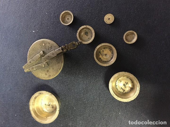 Antigüedades: PONDERAL SIGLO XVII CON TODOS SUS BASOS Y SELLOS - Foto 3 - 121781899