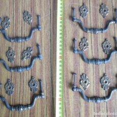 Antigüedades: 6 TIRADORES BRONCE - LATÓN . Lote 121816491