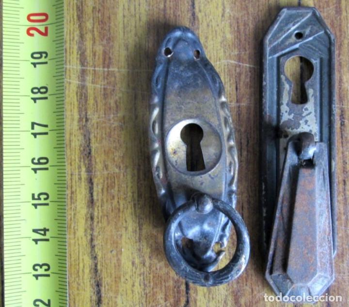 Antigüedades: 15 tiradores -- 6 de latón 9 chapa o similar cogen imán - Foto 6 - 121817715