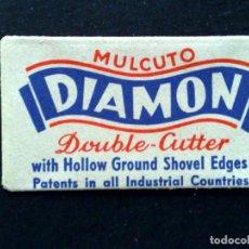 Antigüedades: HOJA DE AFEITAR ANTIGUA-MULCUTO-DIAMON-DOUBLE-RAZOR BLADE-VINTAGE. Lote 121848355
