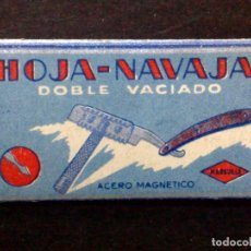Antigüedades: HOJA DE AFEITAR ANTIGUA-NAVAJA-GRUESO-RAZOR BLADE-VINTAGE. Lote 121849751