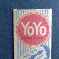Antigüedades: HOJA DE AFEITAR ANTIGUA-YO-YO-SCHUTZMARKE Nº1-RAZOR BLADE-VINTAGE. Lote 121851239