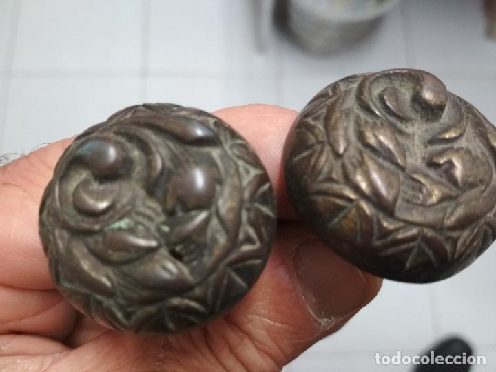 Antigüedades: LOTE 11 TIRADORES Y 3 LLAVES ARMARIO, COMODA CAJONES O SIMILAR. Mitad siglo XX aprox. - Foto 6 - 121893267