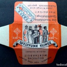 Antigüedades: HOJA DE AFEITAR ANTIGUA-WELTFUNK-KLINGE-RAZOR BLADE-VINTAGE. Lote 121900223