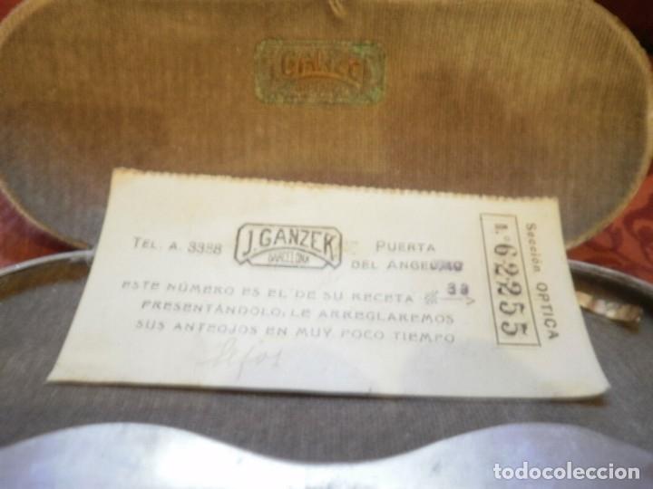 Antigüedades: ANTIGUAS GAFAS DE PASTA. J. GANZER. BARCELONA - Foto 4 - 121905347