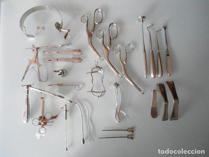 LOTE DE ANTIGUOS UTILES DE CIRUJANO (Antigüedades - Técnicas - Herramientas Profesionales - Medicina)