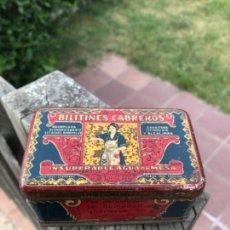 Antigüedades: CAJA METALICA, AÑOS 30, BILITRINES CABREROS. Lote 121918203