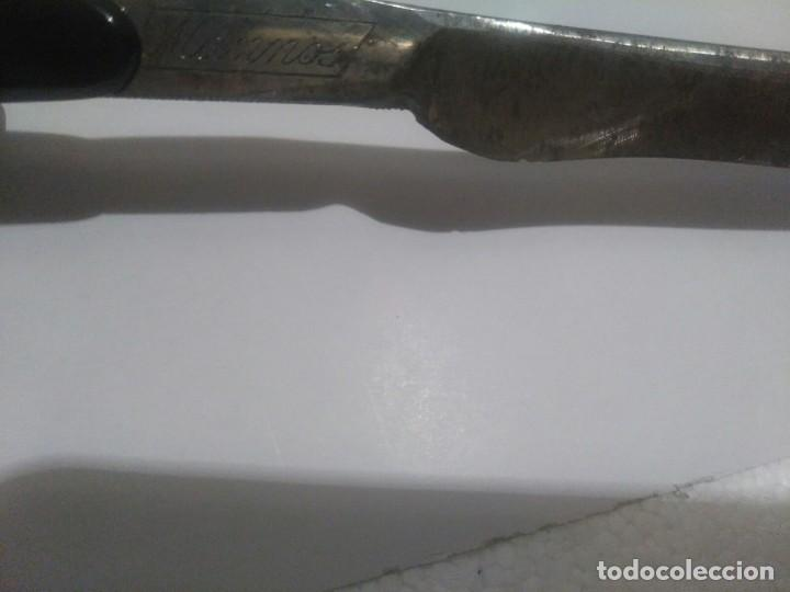 Antigüedades: Antigua navaja de afeitar Mannos,vaciador José Prieto - Foto 7 - 121939095