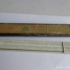 Antigüedades: MUY ANTIGUA (PRINCIPIOS 1900), RARA E IMPORTANTE REGLA DE CALCULO A.W. FABER-COMPLETA Y BUEN ESTADO. Lote 121967127