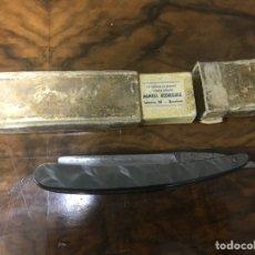 Antigüedades: NAVAJA E. OLIVER CON FUNDA DE PIEL.. Lote 121967327