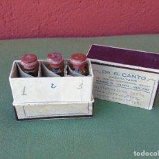 Antigüedades: ANTIGUA CAJA DE VACUNA ESPECIFICA EN 3 DOSIS. (VACIAS). DR. G. CANTO. . Lote 121983683