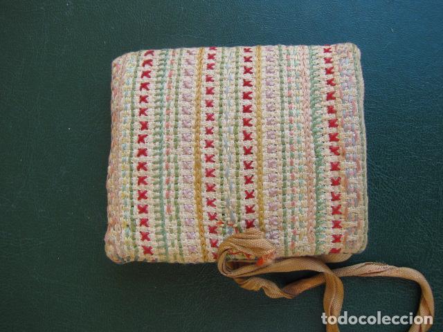 Antigüedades: Costurero de tela. S XIX - Foto 2 - 121985799