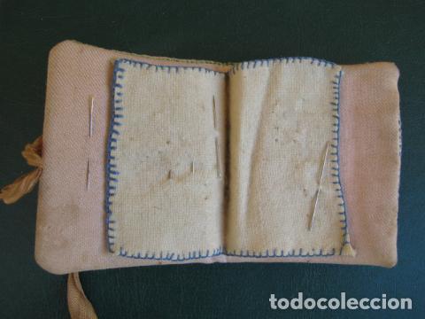 Antigüedades: Costurero de tela. S XIX - Foto 3 - 121985799