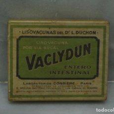 Antigüedades: CAJA PRECINTADA DE LISOVACUNA VACLYDUN DEL DOCTOR L.DUCHON.AÑO 1935.. Lote 122146803