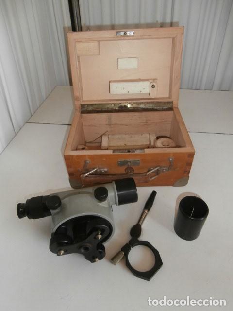 NIVEL OPTICO TOPOGRÁFICO, TEODOLITO, ASKANIA WERKE AG BAMBERG WERK Nº 531643 (Antigüedades - Técnicas - Otros Instrumentos Ópticos Antiguos)