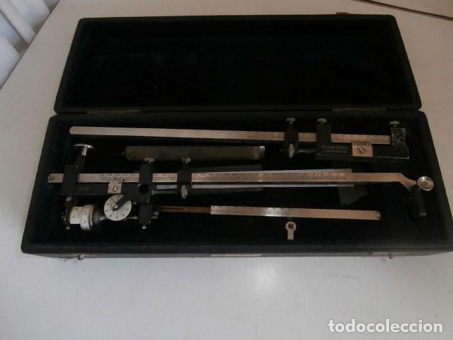 INSTRUMENTO TOPOGRÁFICO ANTIGUO MARCA R.REISS LIEBENWERA (Antigüedades - Técnicas - Varios)