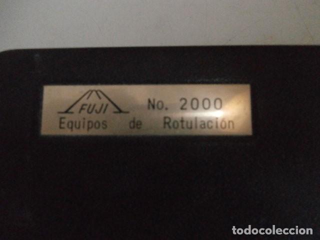 Antigüedades: EQUIPO DE ROTULACION FUJI Nº2000 - Foto 6 - 122237775