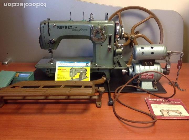 Antigüedades: Máquina de coser Refrey de taller automática y/o manual ..,., - Foto 3 - 122256039