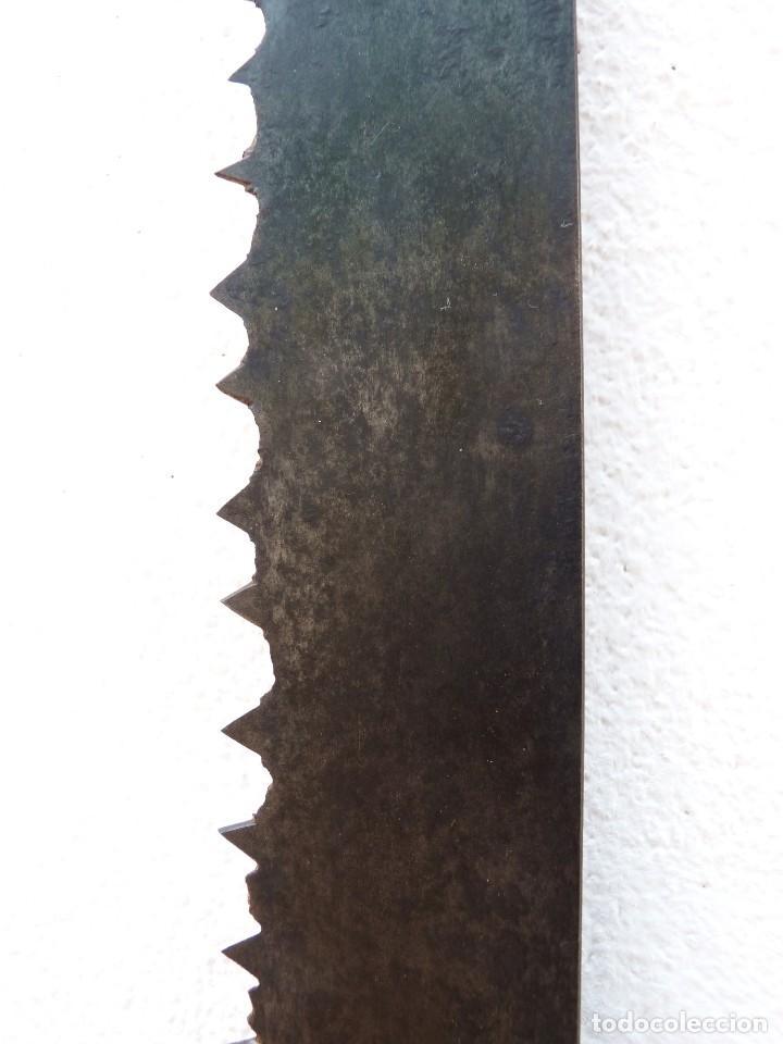 Antigüedades: ANTIGUO TRONZADOR SIERRA SERRÓN DE LEÑADOR. 120 cm. - Foto 2 - 122269551
