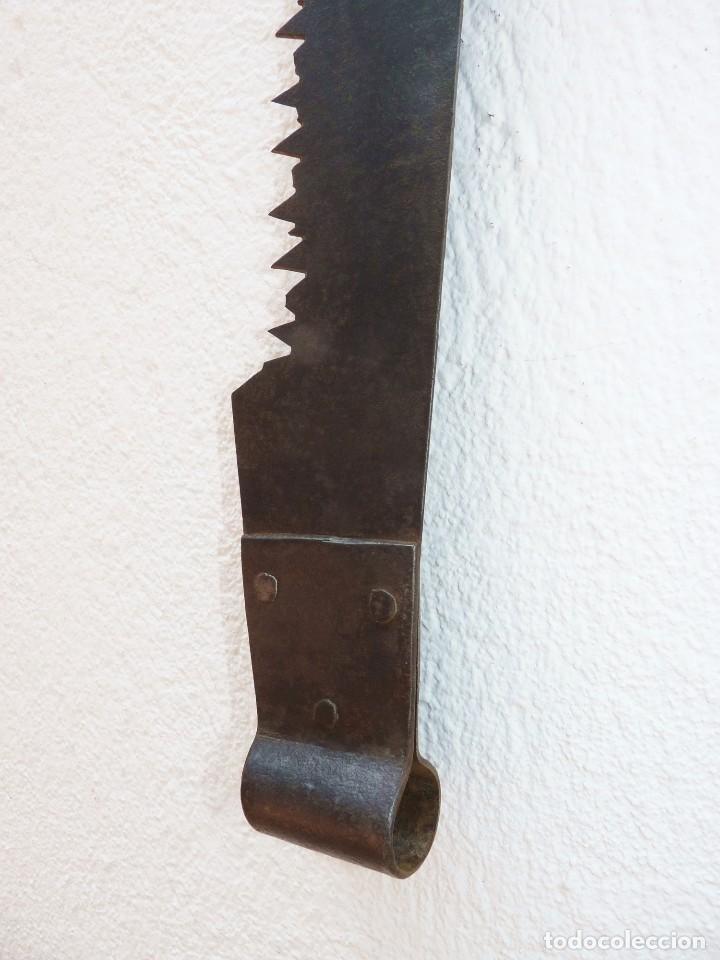 ANTIGUO TRONZADOR SIERRA SERRÓN DE LEÑADOR. 136 CM. (Antigüedades - Técnicas - Herramientas Profesionales - Carpintería )
