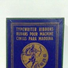 Antigüedades: CAJA DE CARTÓN VACÍA DE CINTAS DIANA PARA MAQUINAS DE ESCRIBIR HISPANO OLIVETTI (1). Lote 122293831