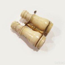 Antigüedades: STANHOPE DE HUESO CON FORMA DE PRISMÁTICOS Y VISTAS DE MADRID. Lote 122435667