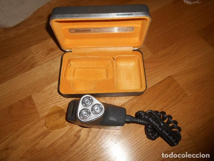 Antigüedades: Antigua máquina de afeitar Philishave de luxe Funciona CON ESTUCHE ORIGINAL - Foto 2 - 122464019