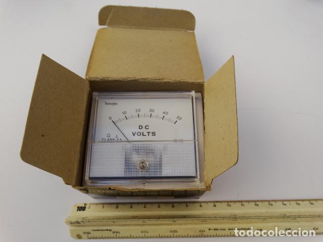 VOLTIMETRO ANALOGICO HC MINIPA DC50V MODELO ML52 PATENTE 14095 CAJA AÑOS 60 DECORACION ESCAPARATISMO (Antigüedades - Técnicas - Herramientas Profesionales - Electricidad)