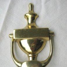 Antigüedades: ALDABA LLAMADOR DE BRONCE 19 X 10 CMS. 300 GRS. Lote 122523703