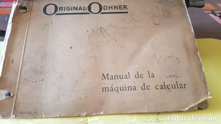 Antigüedades: Calculadora vintage ORIGINAL ODHHNER MOD. 602- 7 Año 1930 - Foto 9 - 122562875