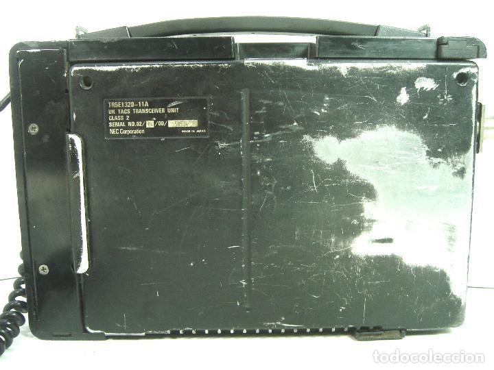 Teléfonos: ANTIGUO TELEFONO MOVIL DE COCHE - NEC TR5E - JAPAN AÑOS 80s 90s MALETA - Foto 4 - 122612671