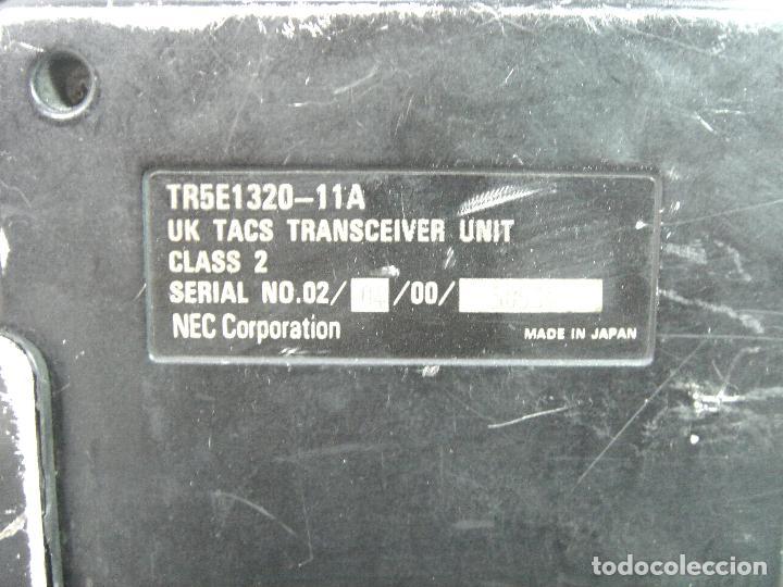 Teléfonos: ANTIGUO TELEFONO MOVIL DE COCHE - NEC TR5E - JAPAN AÑOS 80s 90s MALETA - Foto 5 - 122612671