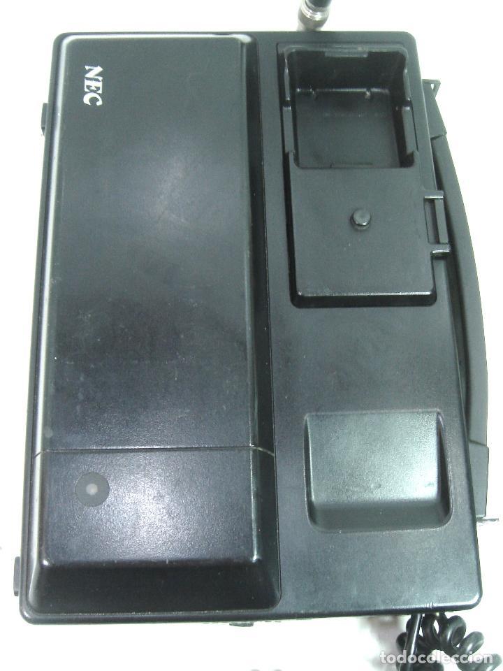Teléfonos: ANTIGUO TELEFONO MOVIL DE COCHE - NEC TR5E - JAPAN AÑOS 80s 90s MALETA - Foto 9 - 122612671