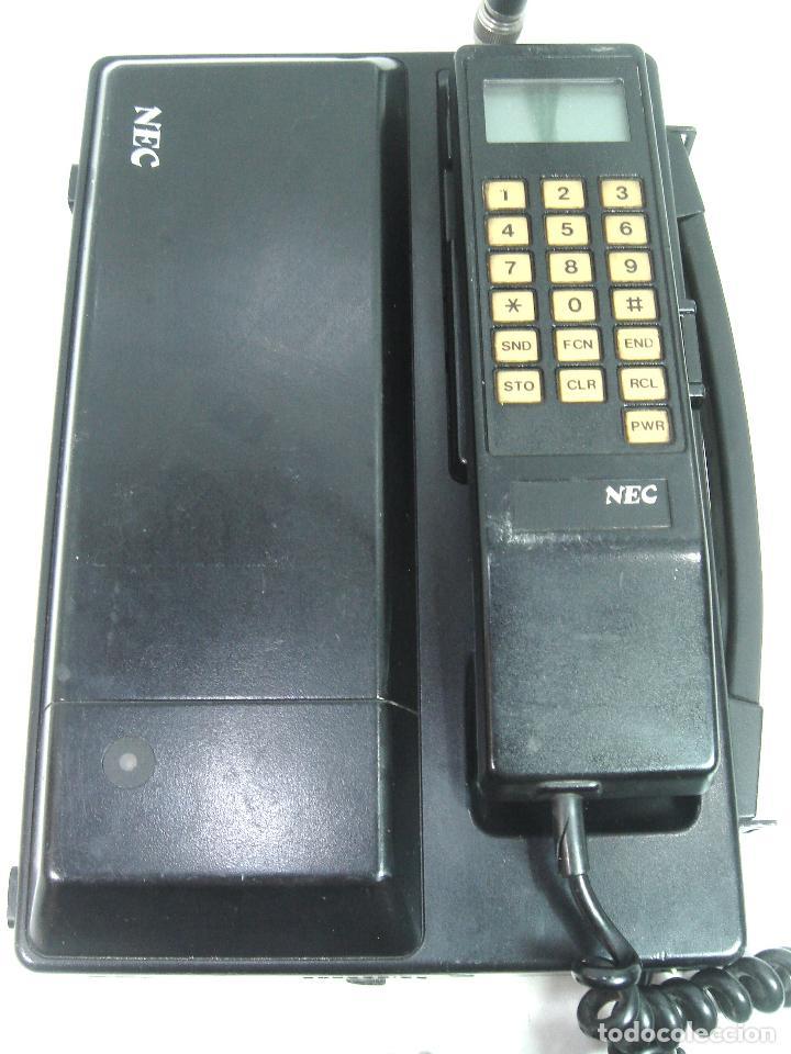 Teléfonos: ANTIGUO TELEFONO MOVIL DE COCHE - NEC TR5E - JAPAN AÑOS 80s 90s MALETA - Foto 10 - 122612671