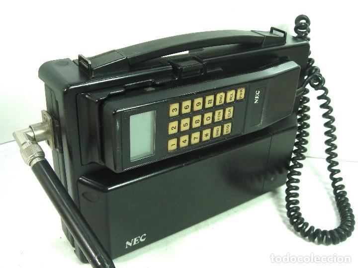Teléfonos: ANTIGUO TELEFONO MOVIL DE COCHE - NEC TR5E - JAPAN AÑOS 80s 90s MALETA - Foto 13 - 122612671