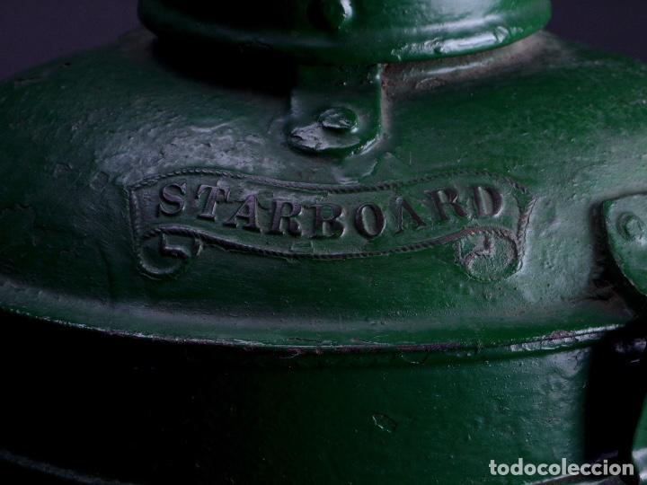 LAMPARA STARBOARD LUZ DE BANDA DE ESTRIBOR BARCO (Antigüedades - Antigüedades Técnicas - Marinas y Navales)