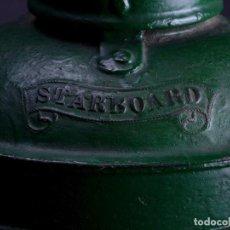 Antigüedades: LAMPARA STARBOARD LUZ DE BANDA DE ESTRIBOR BARCO. Lote 122650759