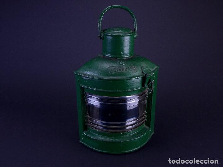 Antigüedades: LAMPARA STARBOARD LUZ DE BANDA DE ESTRIBOR BARCO - Foto 2 - 122650759