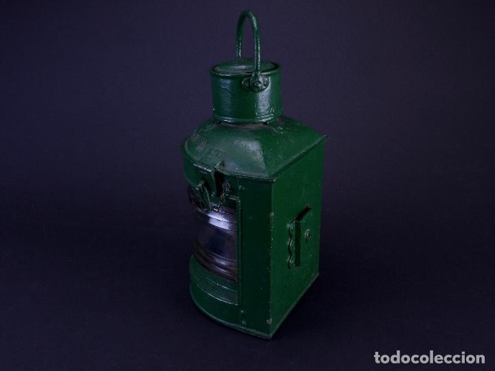 Antigüedades: LAMPARA STARBOARD LUZ DE BANDA DE ESTRIBOR BARCO - Foto 3 - 122650759