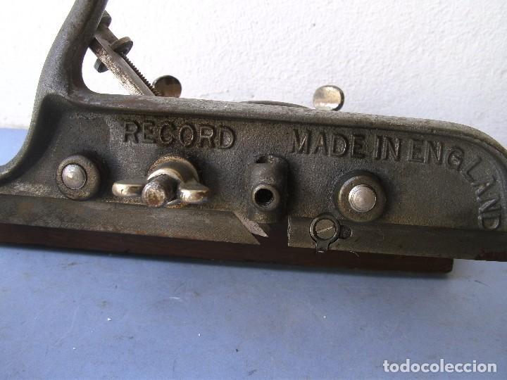 Antigüedades: cepillo record 050, con una cuchilla, sin guia de profundidad (22x20cm aprox) - Foto 4 - 122699427