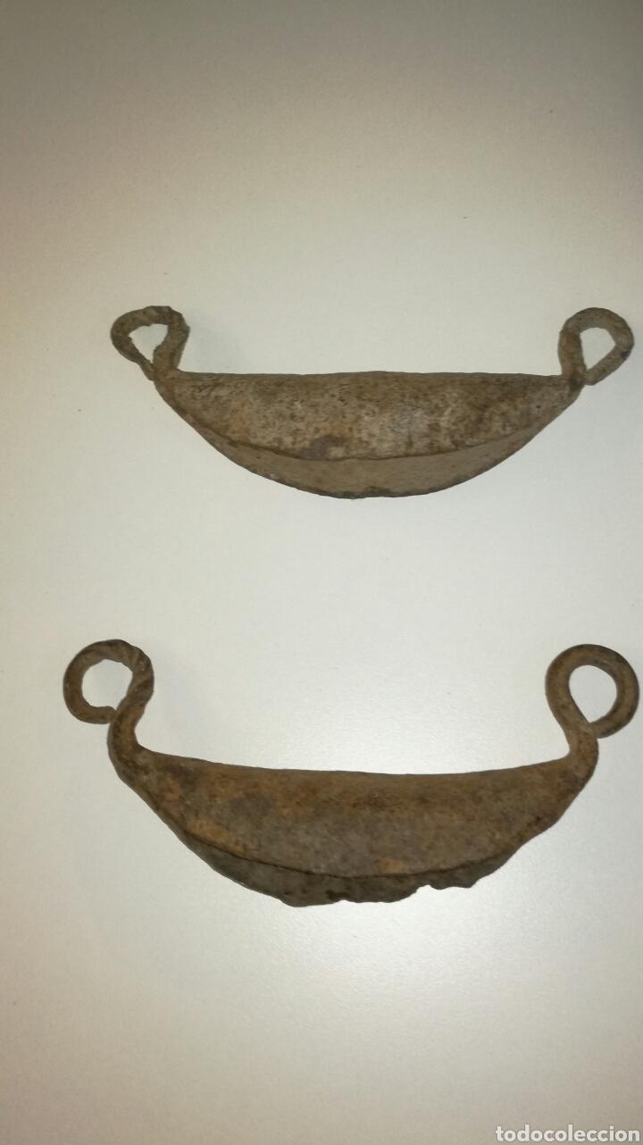 Antigüedades: Pareja de asas de forja - Foto 2 - 122860895