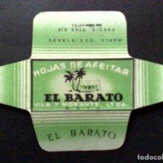 Antigüedades: HOJA DE AFEITAR ANTIGUA-EL BARATO-VILA Y MORANTE-BATA-PTAS 0,15-DE J.VOLLMER (DESCRIPCIÓN). Lote 92200365