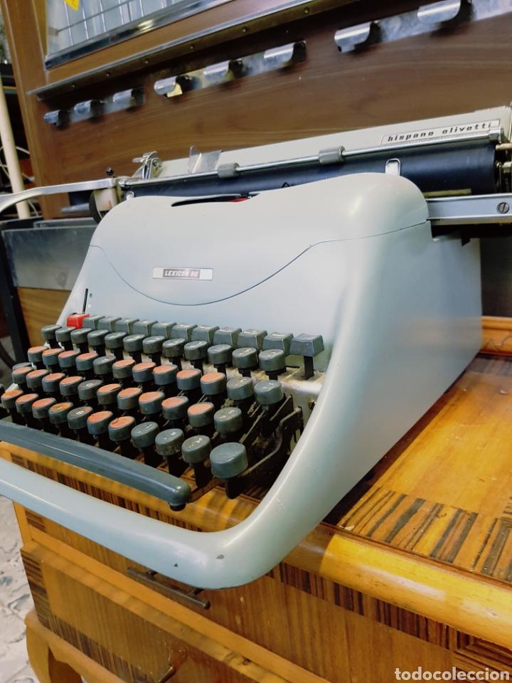 MÁQUINA DE ESCRIBIR HISPANO OLIVETTI LEXICON 80 (Antigüedades - Técnicas - Máquinas de Escribir Antiguas - Olivetti)