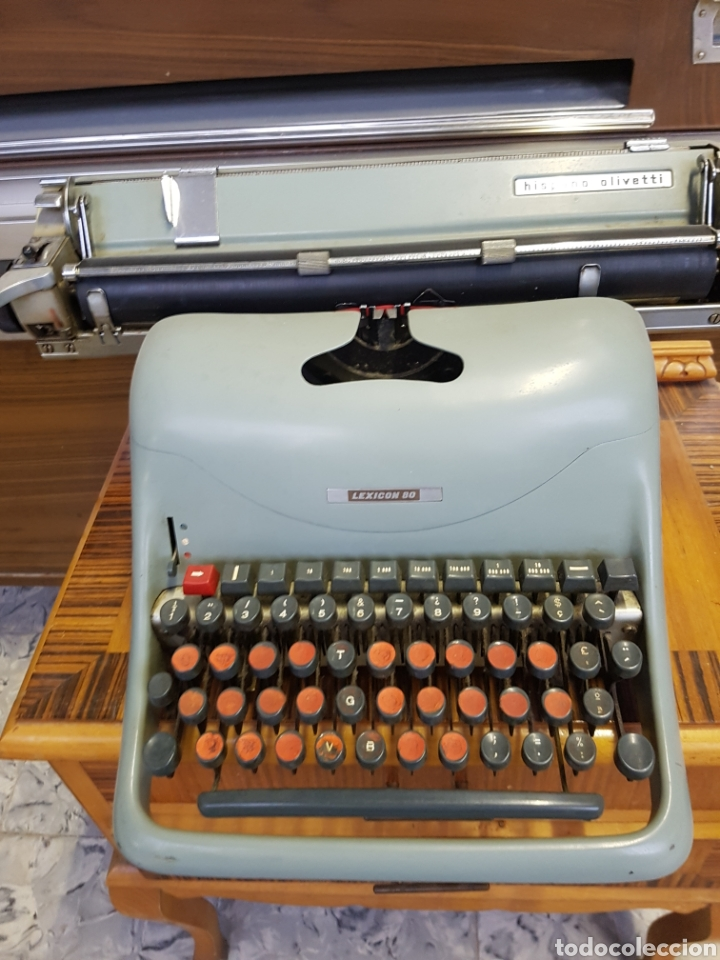 Antigüedades: Máquina de escribir Hispano Olivetti Lexicon 80 - Foto 2 - 122918087